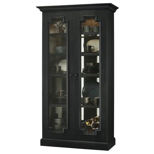 Shop Howard Miller Chasman III Black Solid Wood Tall 5-shelf Living ...