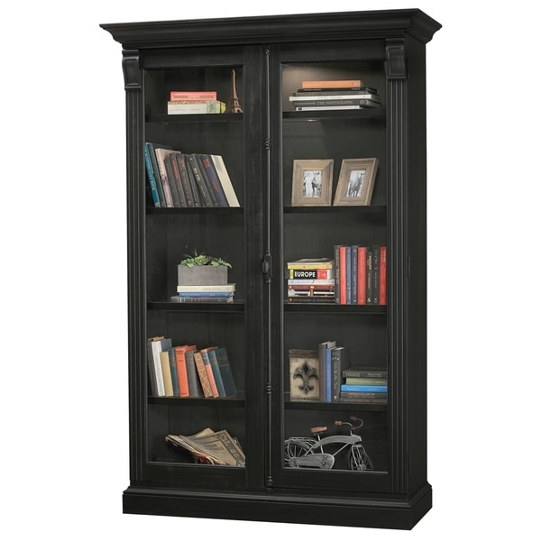 Shop Howard Miller Chadsford IV Aged Black Wood Tall 5-shelf Living ...