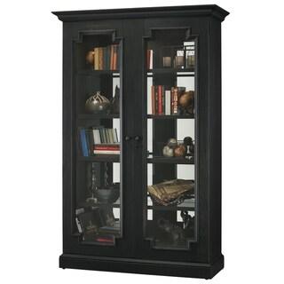 Howard Miller Desmond II Black Solid Wood 5-Shelf Cabinet