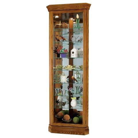 Howard Miller Dominic Wood 8-Shelf Corner Curio Cabinet