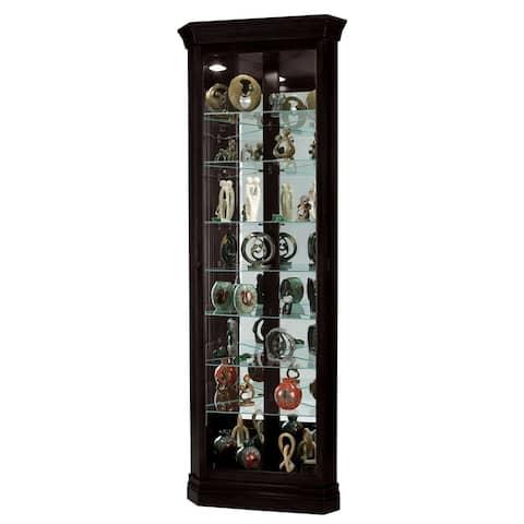 Howard Miller Duane Wood Dark Chocolate 8-Shelf Corner Curio Cabinet