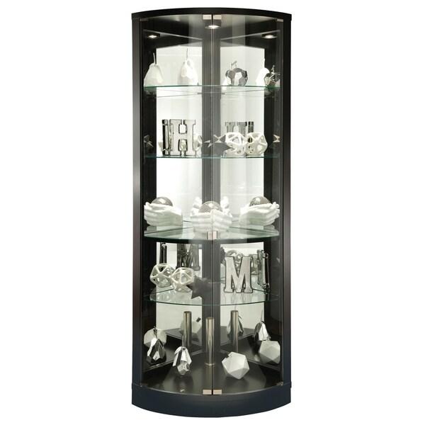 Living Room Furniture For Corner Cabinet: Shop Howard Miller Jaime Black Wood Tall 5-shelf Living