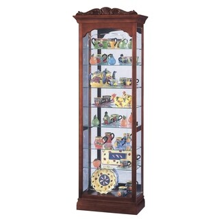 Howard Miller Hastings Cherry-finish Wood 5-shelf Living Room Curio Cabinet