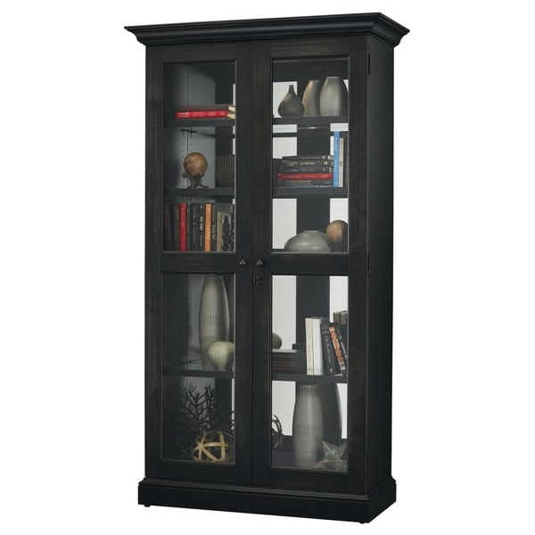 Howard Miller Lennon Ii Rich Black Solid Wood Country Cottage Tall 5 Shelf Curio Cabinet Free Shipping Today 23449377