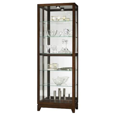 Howard Miller Luke Solid Wood 6-Shelf Curio Cabinet - 80 in. high x 28.5 in. wide x 15 in. deep