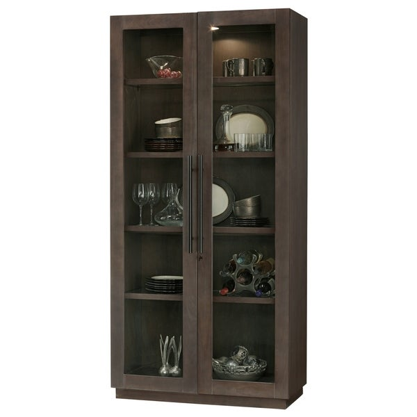 Howard Miller Morrissey Contemporary Modern Chic Aged Java Solid Wood Tall 5