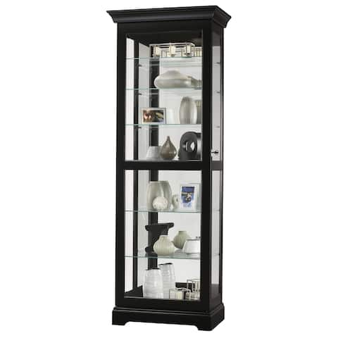Howard Miller Martindale III Rich Black Wood Tall 7-shelf Living Room Curio Cabinet