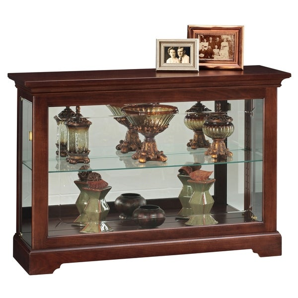 Howard Miller Underhill Cherry Wood 2 Shelf Living Room Curio Cabinet Free Shipping Today 23449399