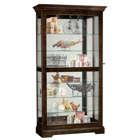 Howard Miller Tyler III Brown Wood/Glass 7-shelf Curio Cabinet