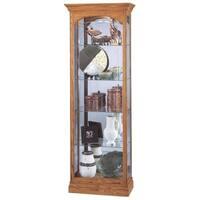 Howard Miller Torrington Light Brown Solid Wood Slim 5-Shelf Living Room Curio Cabinet