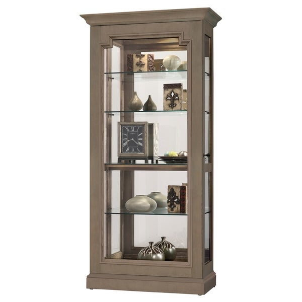 Howard Miller Caden Iii Matte Brown Solid Wood Gl Tall Living Room Curio Cabinet Free Shipping Today 23449433