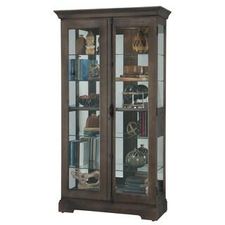 Howard Miller Waylon Dark Aged Wood 6-shelf Curio Cabinet