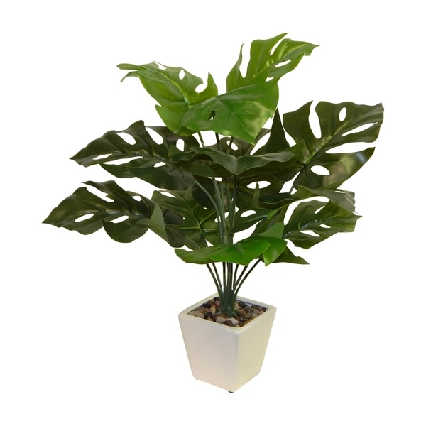 Shop Faux Monstera Philo Floor Plant Free Shipping Today Overstock 23449571