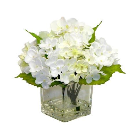 Elegant garden hydrangea arrangement