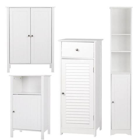 Copper Grove Shijak Adjustable Wood Bathroom Storage Floor Cabinet (4 Options)