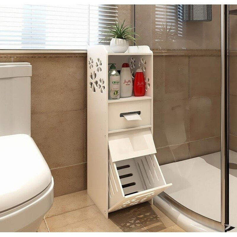3 Tier Portable Bathroom Waterproof Toilet Space Saver Storage Cabinet Overstock 23449627