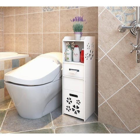 3-tier Portable Bathroom Waterproof Toilet Space Saver Storage Cabinet