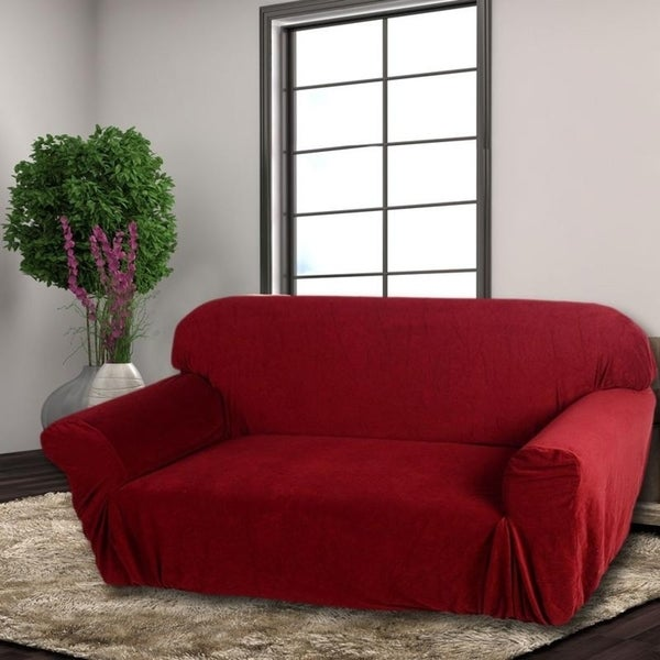 Stretch Elastic Furniture Protector Sofa Cover Slipcover 2 Colors