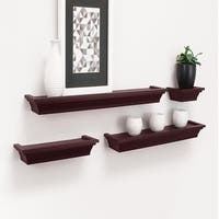 Set of 4 Home Decor Storage Display Wall Mounted Floating Shelf