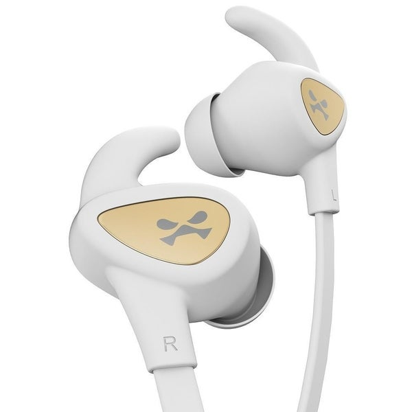 online retailer b41c3 13026 Ghostek Rush Sport Bluetooth Earbuds - White / Gold - Retail Packaged