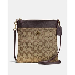 Coach Messenger Crossbody In Signature Jacquard Khaki/Brown
