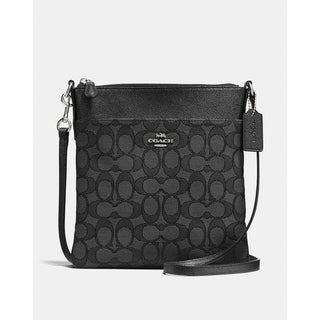 Coach Messenger Crossbody In Signature Jacquard Black Smoke/Black