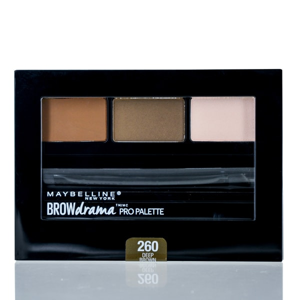 04bdf289acf Maybelline Brow Drama Pro Palette Deep Brown 2 Brow Color Powder, 1  Highlight, Mini