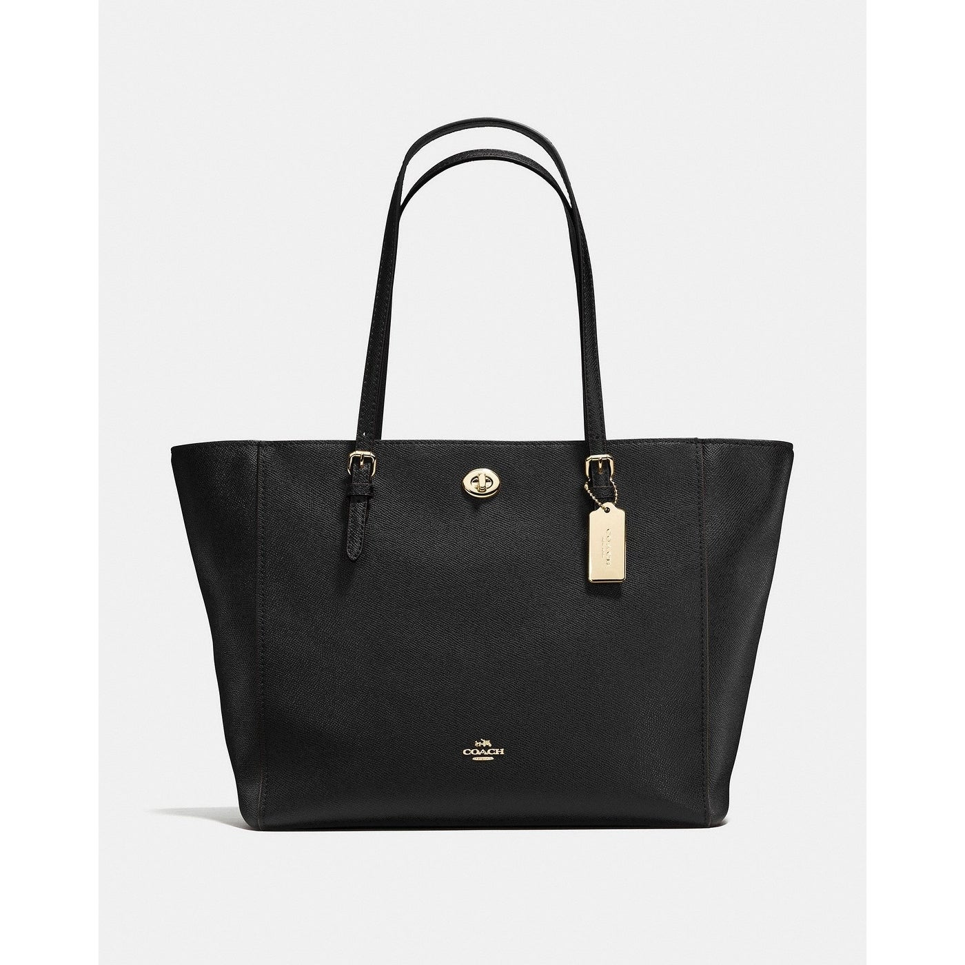 a02406058bbb ... promo code for coach turnlock tote black ac55d 57237