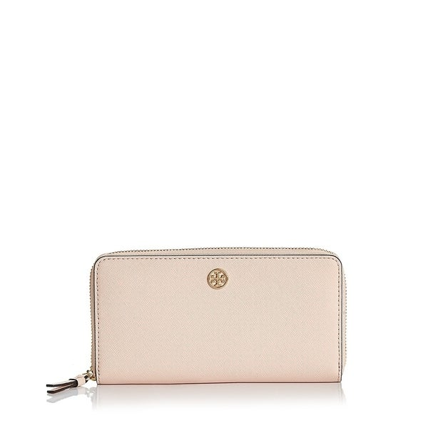df27cdb676 Shop Tory Burch Robinson Zip Continental Wallet Pale Apricot - Free ...