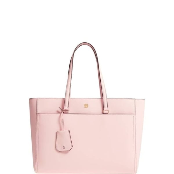 43b64ec20991 Shop Tory Burch Robinson Pink Leather Tote - Free Shipping Today ...