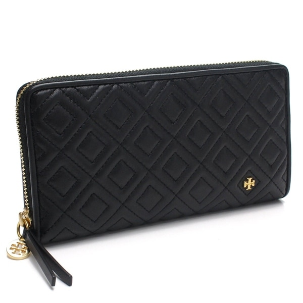 d341697d1 Shop Tory Burch Fleming Zip Continental Leather Wallet - On Sale ...