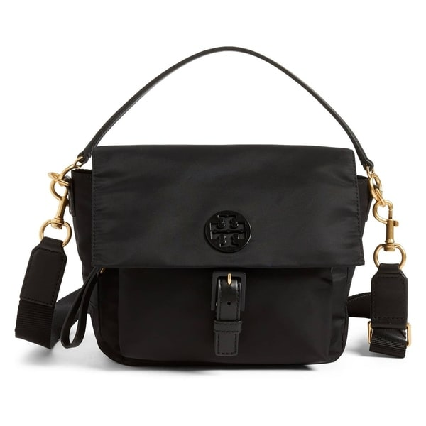 c6152d517 Shop Tory Burch Tilda Nylon Crossbody Bag Black - Free Shipping ...