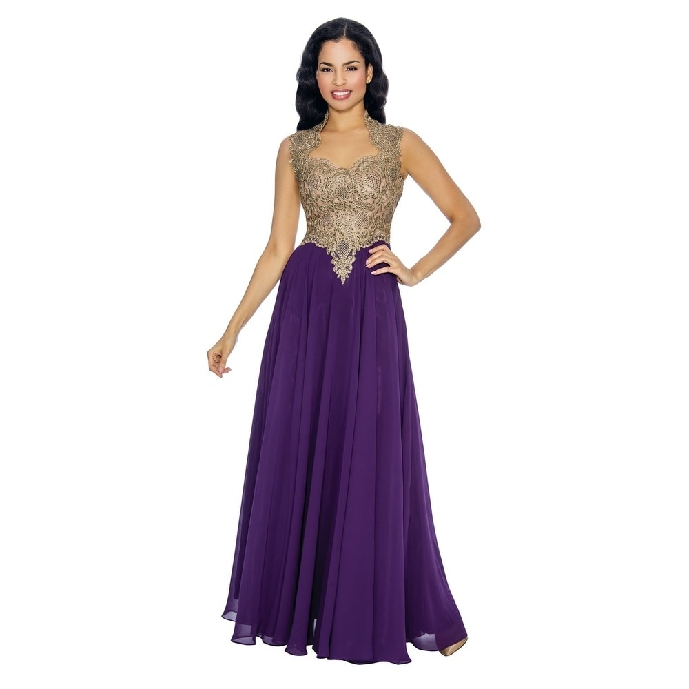 Annabelle Womens Elegant Prom Party Gown