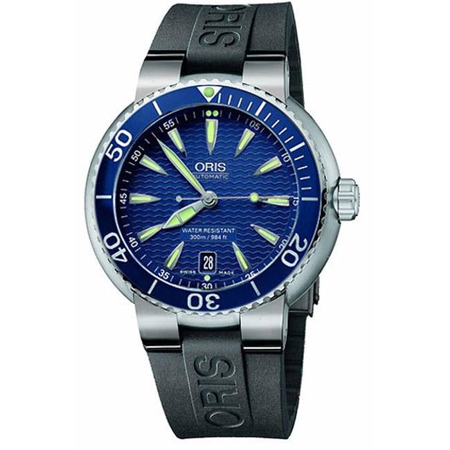 Oris TT1 Diver Men's Blue Strap Blue Dial Watch
