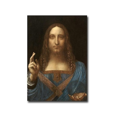 Salvatore Mundi (Savior of the World) by Leonardo da Vinci Gallery Wrapped Canvas Giclee Art