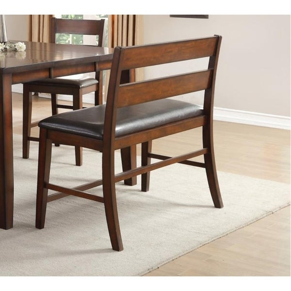 Shop Mango Veneer Bench With Covered Seat Cherry Brown