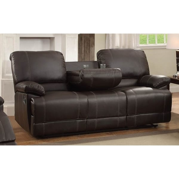 Double Reclining Sofa With Drop Down