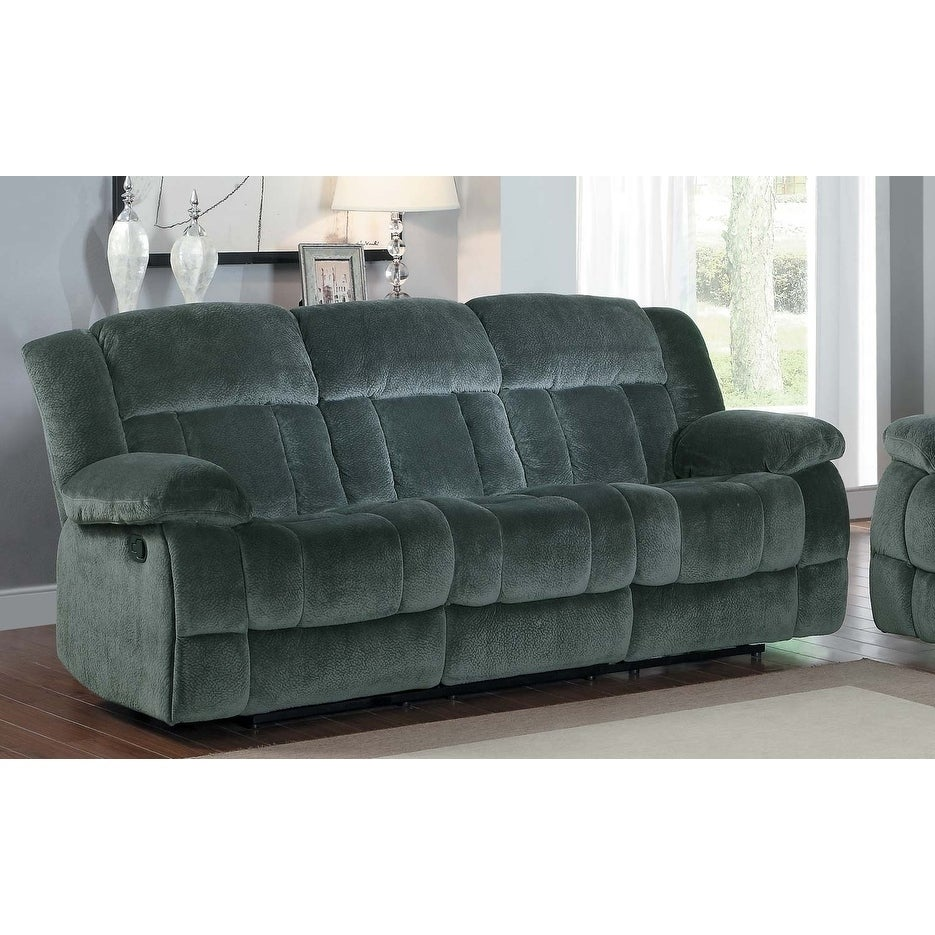 Textured Fabric Reclining Sofa
