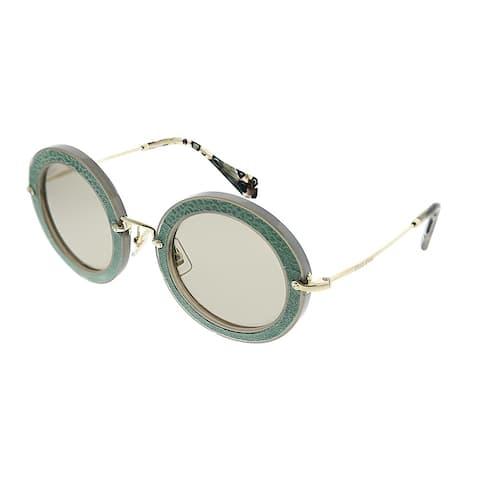 Miu Miu Pavé Story MU 08RS U6S5J2 Women Opal Aqua Green Sunglasses