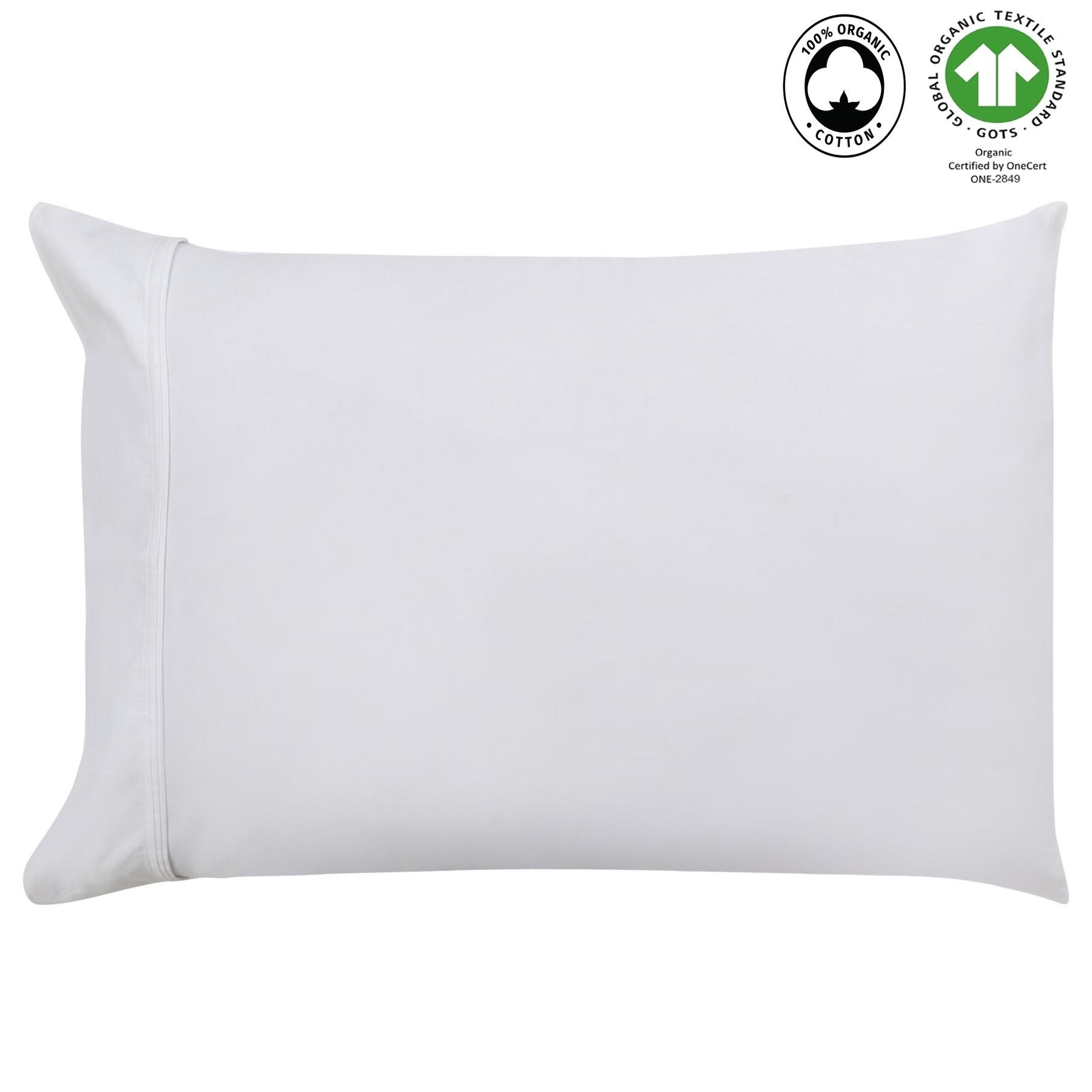 pair 300 Thread Count Wrinkle Resistant Cotton Pillowcases