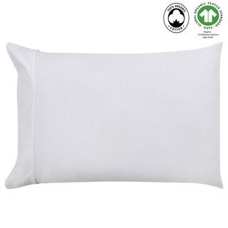 "Organic Cotton Wrinkle Resistant Pillow Case Pair 20"" X 26"""