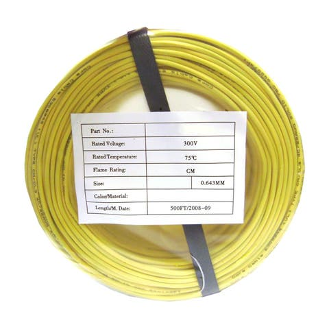 Offex Security and Alarm Wire, Yellow, 22/2 (22AWG 2 Conductor), Stranded, CMR / Inwall Rated, Coil Pack, 500 Feet