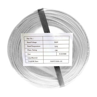 Offex Security and Alarm Wire, White, 22/4 (22AWG 4 Conductor), Solid, CMR / Inwall Rated, Coil Pack, 500 Feet