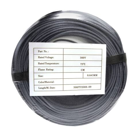 Offex Security and Alarm Wire, Gray, 22/4 (22AWG 4 Conductor), Solid, CMR / Inwall Rated, Coil Pack, 500 Feet