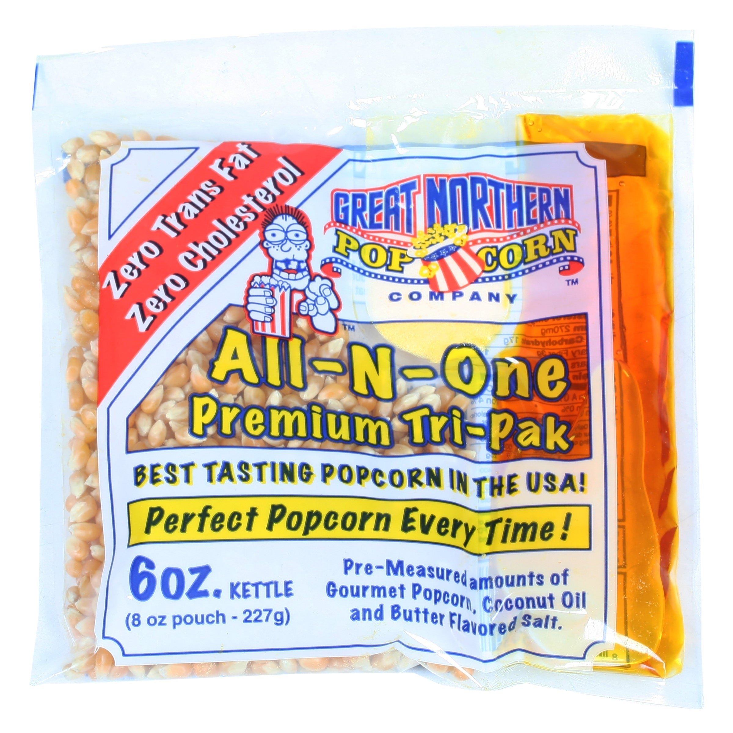 12 of 6 Ounce Popcorn Portion Packs Kit Cinema Great Northern Popcorn 1 Case