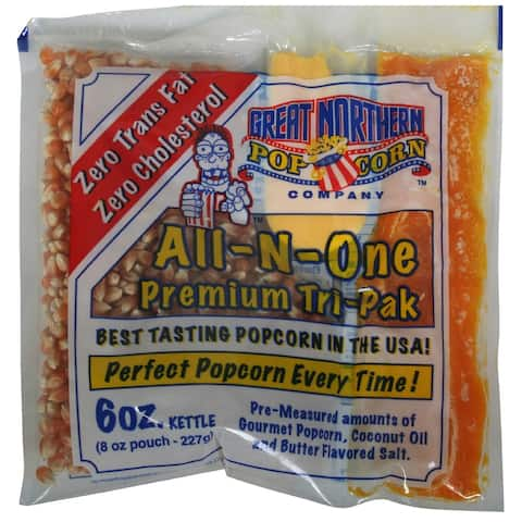 Great Northern Popcorn Premium 6oz Popcorn Portion Packs, Case of 24