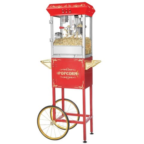 Great Northern Popcorn Foundation Popcorn Machine Cart, 8oz