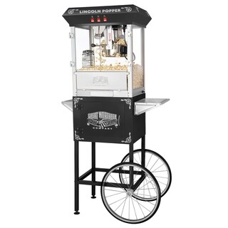Great Northern Antique Style Lincoln Popcorn Machine w/Cart 8 oz - 8 oz