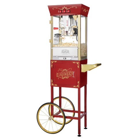 Great Northern Popcorn Red Antique Popcorn Machine Cart, 8oz - 8 oz - 8 oz