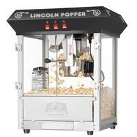 Great Northern Black 8oz Antique Countertop Lincoln Popcorn Machine - 8 oz